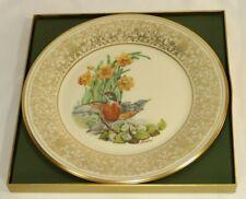 1977 Lenox Boehm Bird Plate Robin Coa & Box Mint