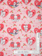 Valentines Day Heart Kewpie Love Toss Pink Cotton Fabric Riley Blake By Yard