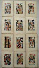 More details for original antique full set 18th century gibson & gisborne plainback faro cards