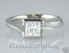 Diamond Ring 1.06ct Certified E Internally Flawless Princess Cut 18ct White Gold