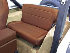 Jeep CJ Wrangler YJ Seat Rear seat bench Seat fold-up Tan Denim 76-95