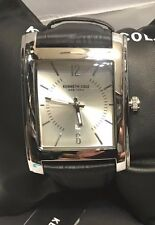 Kenneth Cole New York 35x40mm Men's Rectangular Leather Watch 10031323 NEW!!!