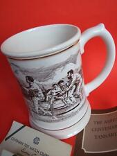Vintage THE ASHES CENTENARY TANKARD & 2 Melbourne Cricket Cards 1977 Frank Mint