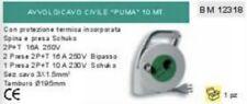 CAVO PROLUNGA PRESA SCHUKO TEDESCA + 2 PRESE 16A 260V con protezione termica 10m
