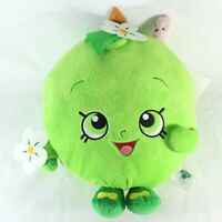 "Shopkins Apple Blossom Green Apple Plush Stuffed Toy Worm Flowers Moose 10"""