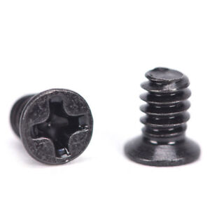 M2 Black Oxide Phillips Cross Countersunk Head Flat Head Machine Screw DIN965