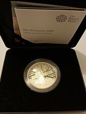 4660 Made 2020 Royal Mint 999 Silver Proof Britannia Coin with Box and COA