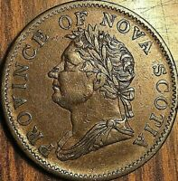 1832 NOVA SCOTIA HALF PENNY TOKEN - Breton 871 - Excellent example!