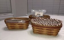 Longaberger 1994 Sweetheart Be Mine Basket, Liner And Protector