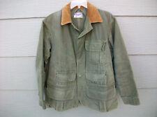 Hinson Mens Vintage Jacket Sz L 40s 50s Bodyguard Hunting Garments w Game Pouch