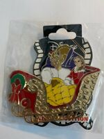 DSSH Princess Couple Holiday Sleigh Beauty And The Beast Disney Pin LE (B)