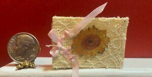 Vintage Artisan Scrap Book  Miniature 1:12 Dollhouse Sunflower Gardening