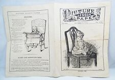 RARE OCTOBER 6, 1889 PICTURE LESSON PAPER VOL XXI NO 10A CHILDRENS BIBLE STUDY