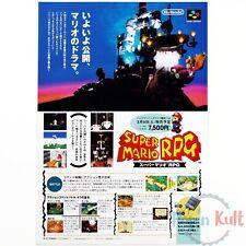 Flyer Super Mario RPG Chirashi Handbill Super Famicom 1995 Nintendo Promo VGC