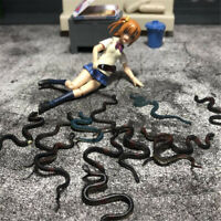 """1/6 Scale Mini Plastic Snake Model For 12"""" Action Figure Animal Accessory Toy"""