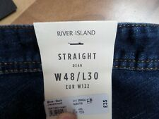 RIVER ISLAND Men's  blue Jeans / W48/L30in-SIZE BIG  -NEW-