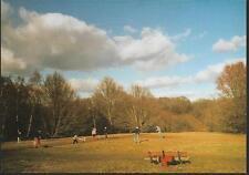 London - Hampstead Heath, playing rounders - postcard c.1990s