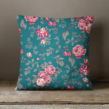 S4Sassy Pillow Cover Decorative Floral Printed Green Cushion Cover Throw
