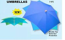 7 Ft Diamond Shaped Top Umbrella W/ Tilt Carry Bag 98% Uva Rays Protection New