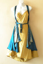 "M603 Reversible Vintage Silk Magic 30"" Women Hobo Wrap Skirt Halter Women Dress"