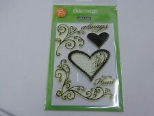 HERO ARTS CLEAR DESIGN ALWAYS HEARTS CL163 POLY CLEAR STAMPS NEW A1091