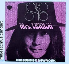 "YOKO ONO MRS LENNON 7"" VINYL 1971 FRANCE EXCLUSIVE EX+ JOHN THE BEATLES"