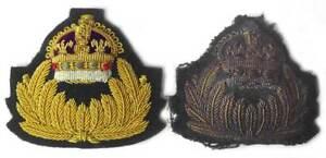 RNAS Cap Badge Officer - Royal Naval Air Service WW1 Pilot pre - RAF Bullion WWI