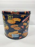 Nabisco Snack Tin Container 1996 Oreo Ritz Bits Nutter Butter Fig