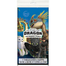 HOW TO TRAIN YOUR DRAGON 3 PLASTIC TABLE COVER ~ Birthday Party Supplies Cloth