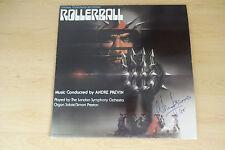 """Norman Jewison AUTOGRAFO SIGNED LP-COVER colonna sonora """"ROLLERBALL"""" vinile"""