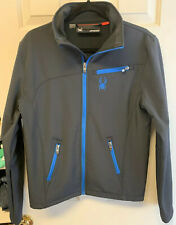 SPYDER BLACK STRATOS SOFTSHELL JACKET MENS SIZE SMALL EXCELLENT CONDITION
