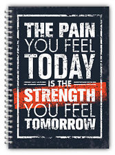 DIET DIARY SLIMMING TRACKER FOOD DIARY WEIGHT LOSS A5 JOURNAL QUOTE STRENGTH