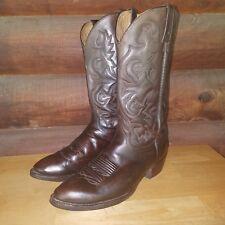 J. Chisholm  Men's  Brown Leather  Western /Cowboy  Boots SZ 11B