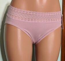 5548b1aa37 Jockey Bikinis Microfiber Seamfree Lace Top Lavender Panties NWT Size 8