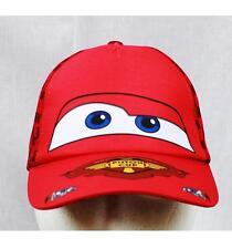 NWT Disney Cars Lightin McQueen Baseball Cap Child Size Licensed Red Checker