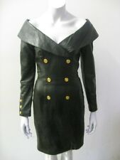 Vintage NORTH BEACH LEATHER Micheal Hoban Black Military Dress Size XS