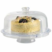 Modern Design 5 IN 1 Multi Functional Cake Stand & Dome Plastic Cover Salad Bowl