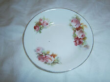 ROYAL DOULTON PINK ROSES BUTTER DISH - 12 CMS ACROSS