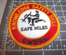 Knowledge Safety Skill Safe Miles GWRRA Embroidered Patch, great collectible