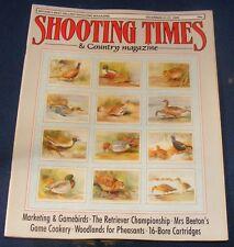 SHOOTING TIMES MAGAZINE DECEMBER 21-27 1989 - MARKETING & GAMEBIRDS