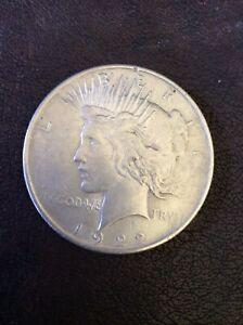 1922 USA American Eagle Liberty Peace Dollar