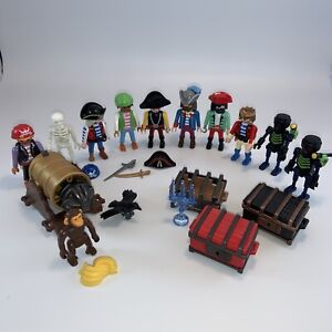 Playmobil Pirates Lot FIGURES, TREASURE, WEAPONS, BOY, MONKEY Vintage 90s