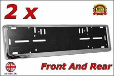 2x Delux Chrome Car Custom Number Plate Licence Holder Peugeot Expert Tepee
