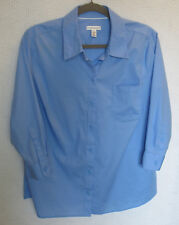 Croft & Barrow 3/4 Sleeve Button Front Blouse Size XL