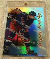 WAYNE GRETZKY 1996-97 SELECT CERTIFIED MIRROR BLUE PARALLEL WITH COATING #4 RARE