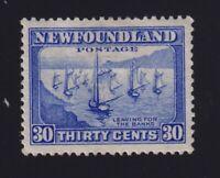 Newfoundland Sc #198 (1932-7) 30c ultramarine Fishing Fleet Mint VF H