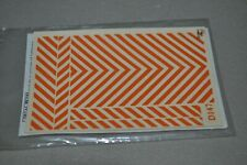 HO scale Walthers decal set 701478 Safety Stripes Orange