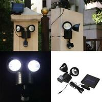 22 LED Motion Sensor Light Dual Head Security PIR Floodlight Outdoor Solar Power