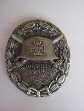 WH Verwundetenabzeichen Helm Schwert Eichenlaub EK 1944 Pin Wehrmacht WXX WK2
