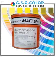 Smalto epossidico bicomponente per pavimenti A+B lt 0,750 + lt 0,250 colore ral